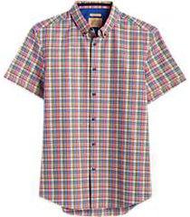 joe joseph abboud multicolor plaid short sleeve slim fit sport shirt