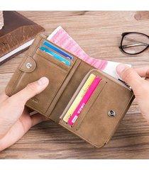 vera pelle portafoglio trifold da taschino con tasca per monete multi-funzionale da 13 slot per uomo