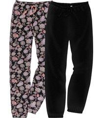 pantaloni pigiama (pacco da 2) (nero) - bpc bonprix collection
