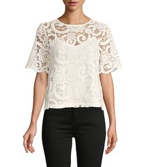 tie-bow lace top