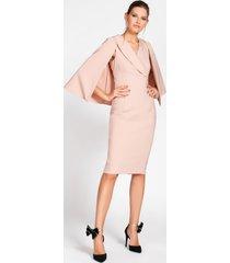 rinascimento vestito corto con mantella
