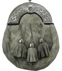 full dress kilt sporran grey bovine celtic cantle/scottish kilt sporrans bovine
