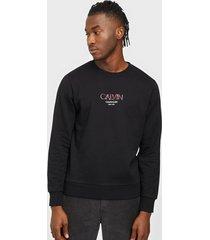 calvin klein calvin small logo sweatshirt tröjor black