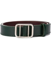 gianfranco ferré pre-owned 1990 adjustable leather belt - green