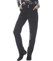 pantalon elasticado mujer negro corona