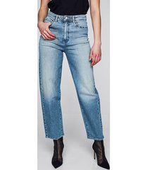 colette barrel fit high waist jeans - ljusblå