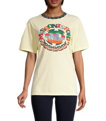 m missoni women's logo graphic cotton t-shirt - lemon - size xs
