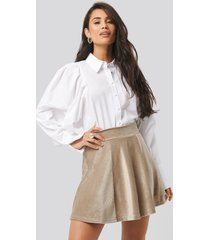 trendyol velvet knitted skirt - beige