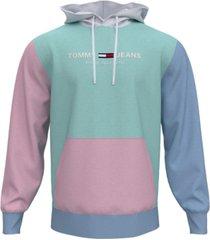 tommy hilfiger men's tommy jeans pastel capsule colorblocked hoodie