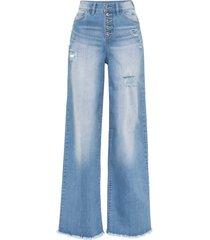 jeans larghi a vita alta (blu) - rainbow