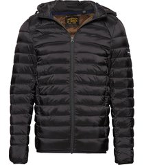 classic hooded light weight padded jacket gevoerd jack zwart scotch & soda
