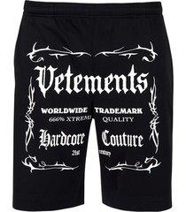 black label logo shorts black