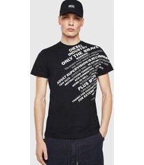 polera t diego s3 t shirt 900 negro diesel