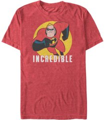 disney pixar men's the incredibles, mr. incredible strong pose short sleeve t-shirt