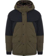 belstaff x sophnet martock hooded down jacket - pine & black 71030140-293