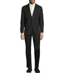saks fifth avenue men's extra slim fit solid wool suit - grey - size 36 s
