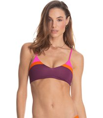traje de baño top multicolor maaji swimwear vintage grape rocks