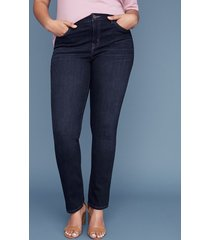 lane bryant women's essential stretch straight jean - dark wash 20l dark denim