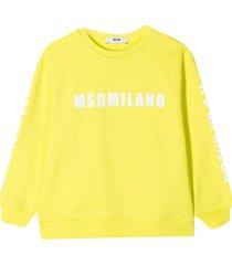msgm yellow sweatshirt