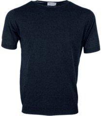 john smedley extra-fine cotton short-sleeved crew neck sweater