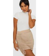 nly trend drawstring rib skirt minikjolar