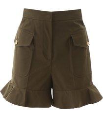 alexander mcqueen ruffled shorts