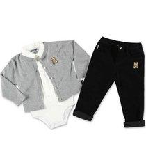 cardigan shirt & pants set