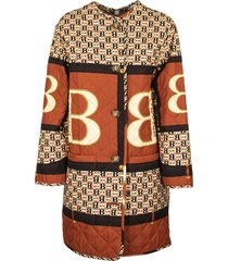 archive scarf print diamond quilted coat bardsey