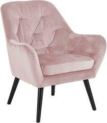 fotel tapicerowany scampia różowy