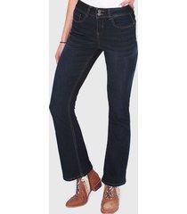 jeans wados flare 2 botones azul - calce regular