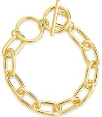 sterling forever women's linked toggle bracelet