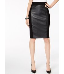 inc faux leather ponte-knit pencil skirt, created for macy's
