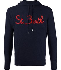 blue navy wool sweatshirt with hood