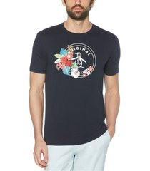 original penguin men's floral stamp pete short sleeve t-shirt