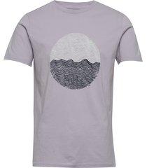 alder wave tee - gots/vegan t-shirts short-sleeved blå knowledge cotton apparel