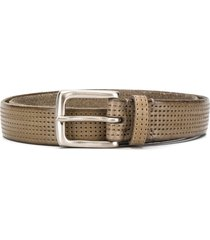 anderson's perforated square-buckle belt - neutrals