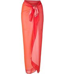 amir slama silk oversized beach skirt - pink