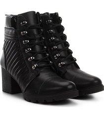 bota coturno dakota matelassê lateral feminina
