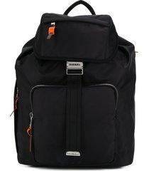 diesel buckle backpack - black