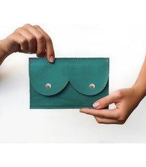 portfel zielony metalic róż