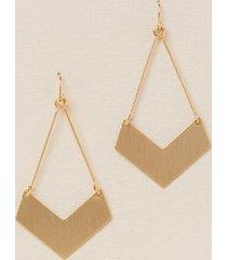 aislin arrow drop earrings - gold