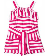 monnalisa pink and white playsuit