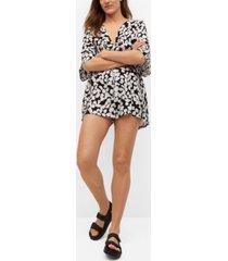 mango women's printed short jumpsuit