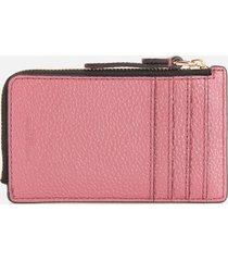 marc jacobs women's small top zip wallet - dusty ruby