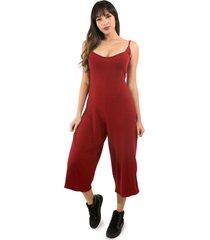 macacã£o racy modas canelado vermelho - vermelho - feminino - dafiti
