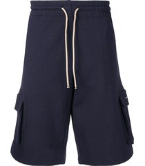 drôle de monsieur side pocket shorts - blue