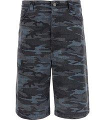 balenciaga denim bermuda shorts