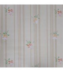 kit 2 rolos de papel de parede fwb floral amarelo e laranja - amarelo/laranja - dafiti