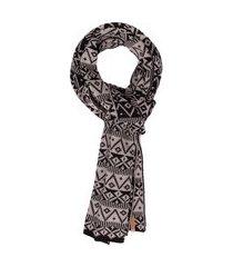 cachecol masculino tricot étnico jimmy - cinza