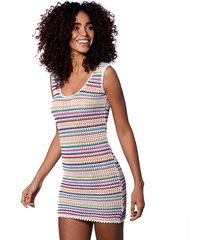 knitted multicolor short dress